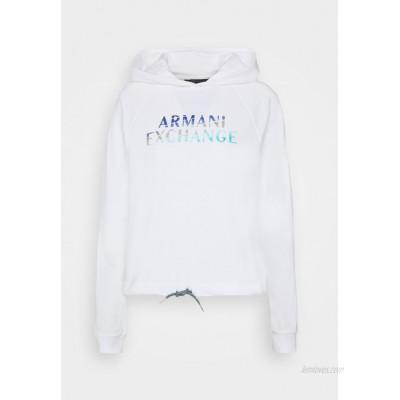 Armani Exchange FELPA Sweatshirt white/white denim
