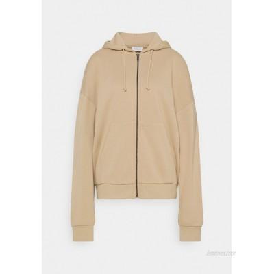 Even&Odd Oversized Hooded Sweat Jacket Zipup sweatshirt mottled beige