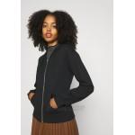 Even&Odd REGULAR FIT ZIP UP HOODIE JACKET Zipup sweatshirt black