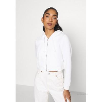 Monki JOANNA HOODIE Zipup sweatshirt offwhite light/offwhite