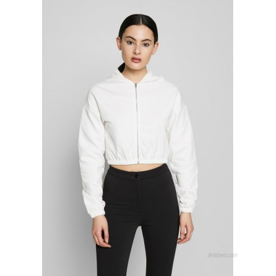 Nly by Nelly CROPPED ZIP HOODIE Zipup sweatshirt white