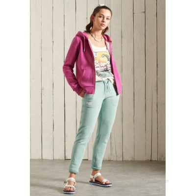 Superdry ORANGE LABEL Zipup sweatshirt magenta marl/pink