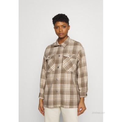 ONLY ONLELLENE VALDA CHACKET Summer jacket humus/beige/white/beige