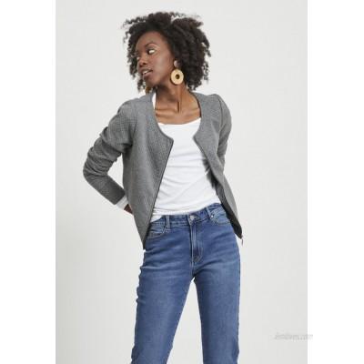 Vila VINAJA NEW SHORT JACKET Summer jacket medium grey melange/mottled grey