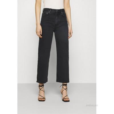 ARKET PANTS Straight leg jeans washed black/black