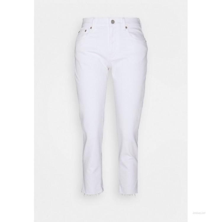 GAP Petite OPTIC CUFF Straight leg jeans white global/white