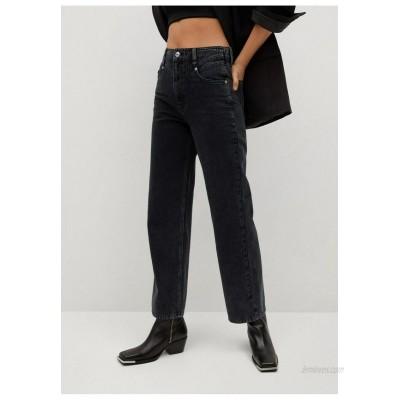 Mango JULIETTE Straight leg jeans black denim