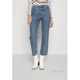 Selected Femme SLFKATE RAIL Straight leg jeans medium blue denim/blue denim