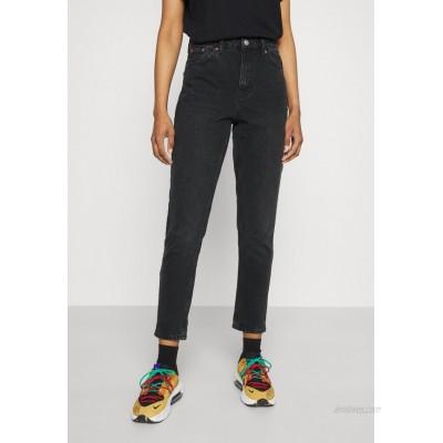 Topshop MOM        Straight leg jeans washed black/black
