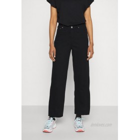 Weekday LARA WAIST TROUSERS Relaxed fit jeans black