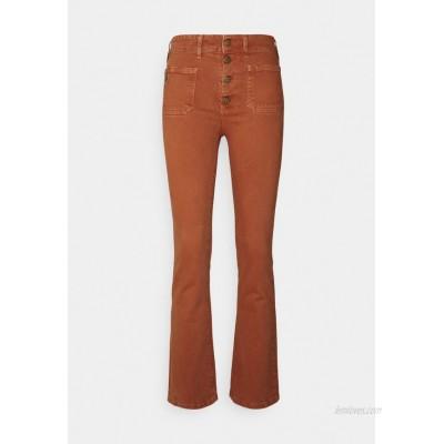 LOIS Jeans GAUCHO Flared Jeans orange rust/metallic red