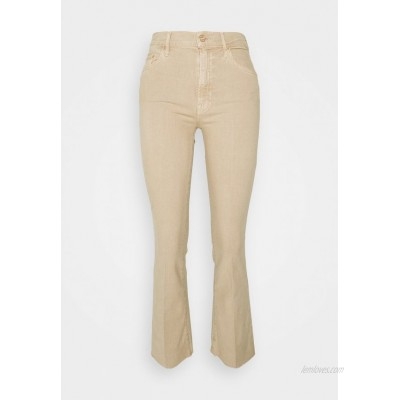Mother THE INSIDER ANKLE FRAY Flared Jeans khaki/beige