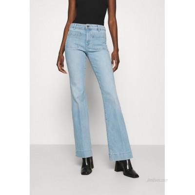 Wrangler Flared Jeans clear blue/lightblue denim