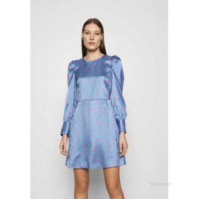 Closet CLOSET PUFF SLEEVE MINI DRESS Day dress blue