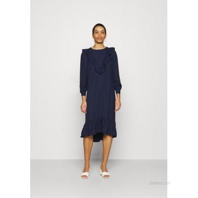 Dorothy Perkins FRILL FRONT SMOCK DRESS Day dress navy/dark blue