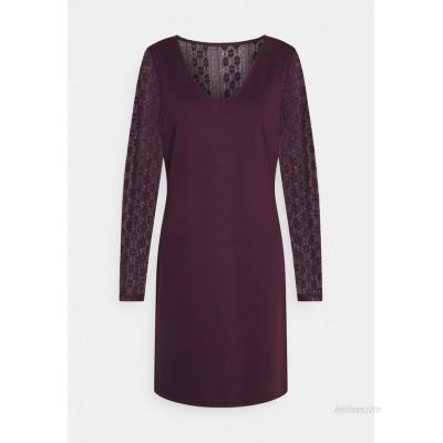 Vila VIJENNIE V NECK MIXED DRESS Day dress winetasting/bordeaux