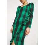 Who What Wear RUFFLE TRIM DRESS Day dress green/dark green