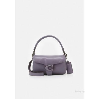 Coach COVERED CLOSURE PILLOW TABBY SHOULDER BAG 7 Handbag vintage purple/purple