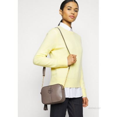 Tory Burch MCGRAW CAMERA Across body bag silver maple/taupe