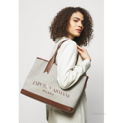 Emporio Armani SHOPPING BAG Tote bag white/tobacco/black/ecru/white