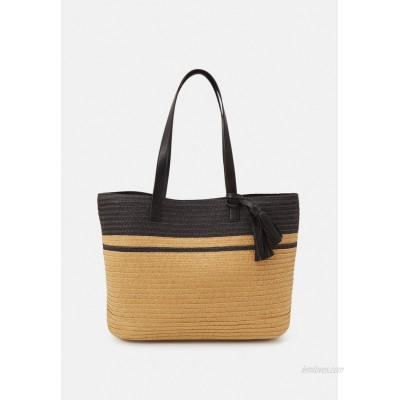 Anna Field Tote bag black/beige/black