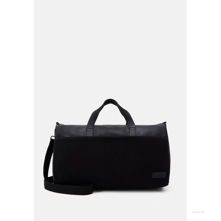 Zign UNISEX LEATHER Weekend bag black