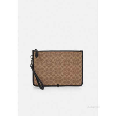 Coach CHARTER POUCH IN SIGNATURE UNISEX Laptop bag tan/brown