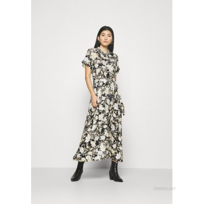 Freequent BUTTON Jersey dress blue mix/multicoloured
