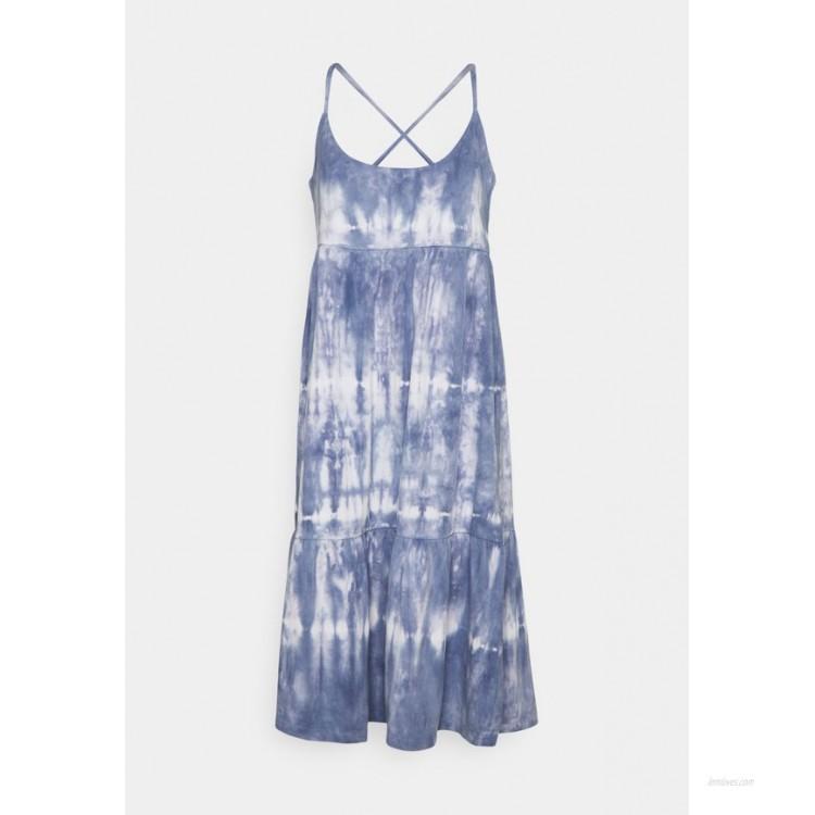 GAP STRAPPY TIERED MIDI Jersey dress blue tie dye/blue