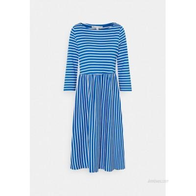 TOM TAILOR DENIM STRIPED DRESS Jersey dress mid blue/blue