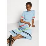 Victoria Victoria Beckham STRIPE DETAIL SOFT SUMMER DRESS Jersey dress pale blue/light blue