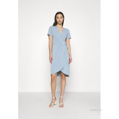 Vila VINAYELI KNEE WRAP DRESS Jersey dress ashley blue/light blue