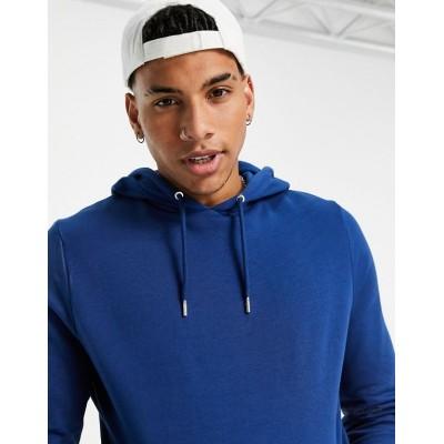 DESIGN organic hoodie in blue