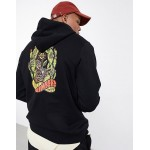 Element Pick your Poison back print hoodie in black