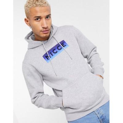 Nicce alto ombre logo hoodie in grey