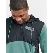 Under Armour Training Storm 1/2 zip fleece hoodie in green and black