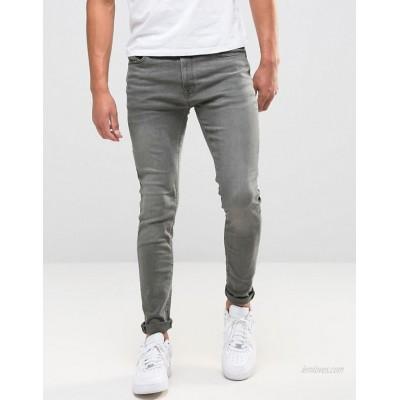 Jack & Jones Intelligence Liam skinny fit jeans in washed grey