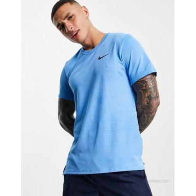 Nike Training SuperSet marl t-shirt in blue