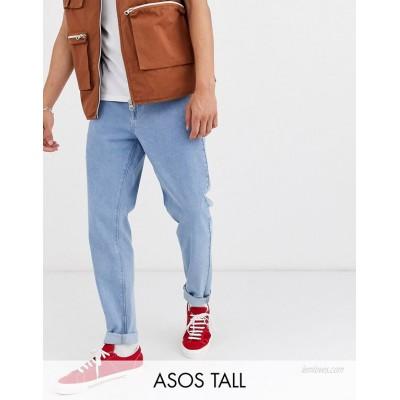 DESIGN Tall classic rigid jeans in light stone wash blue
