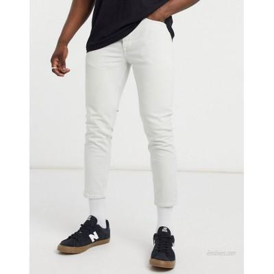 River Island tapered jeans in ecru