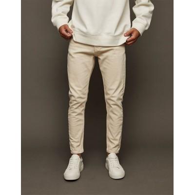 Topman stretch tapered jeans in ecru