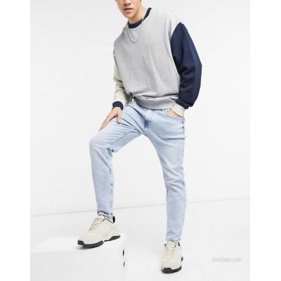 Bershka skinny jeans in blue wash