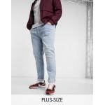 Topman organic cotton Big & Tall stretch skinny jeans in bleach