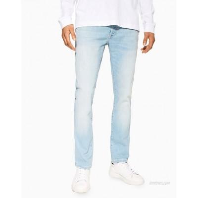 Topman stretch slim jeans in light wash