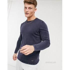 Only & Sons crew neck sweater in blue