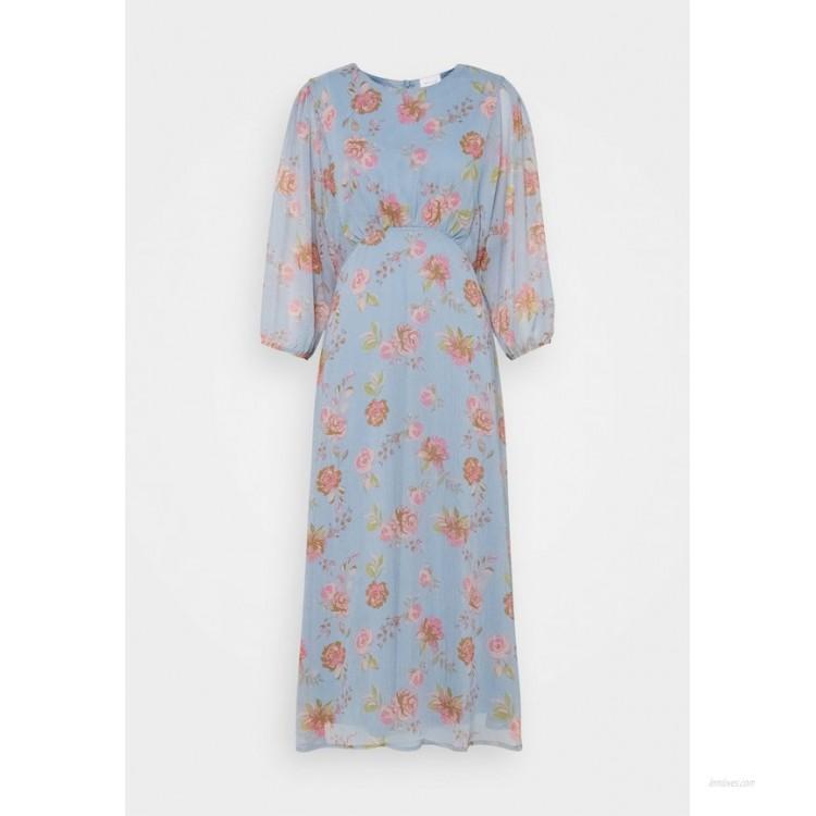 Vila VIDIANELLA O NECK MIDI DRESS Cocktail dress / Party dress ashley blue/pink/light blue