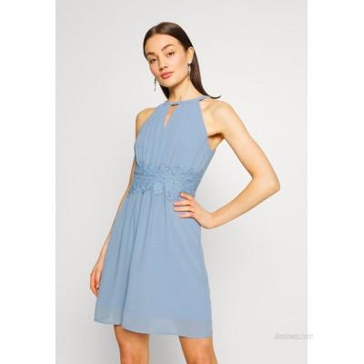 Vila VIMILINA HALTERNECK Cocktail dress / Party dress ashley blue/dark blue
