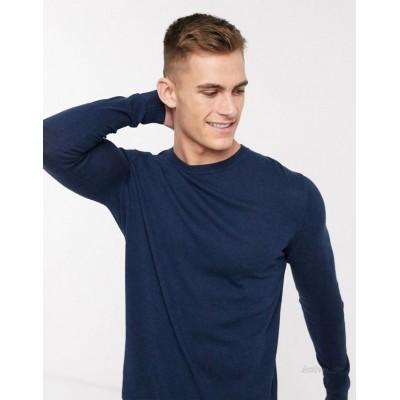 DESIGN cotton sweater in navy