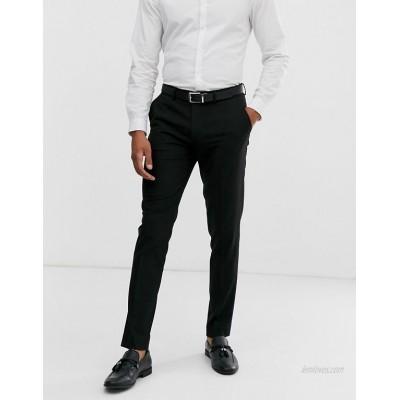 DESIGN skinny smart pants in black