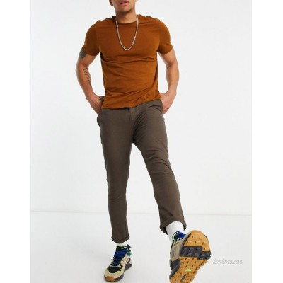 DESIGN super skinny cropped chinos in brown